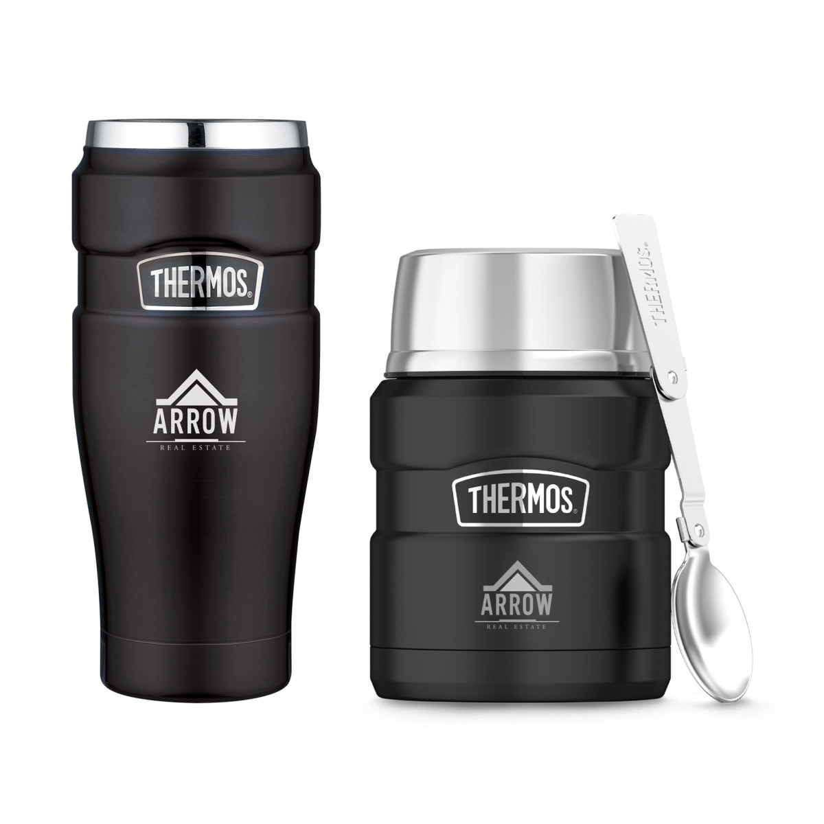 Thermos® Stainless King™ Travel Gift Set Black