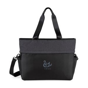 Life in Motion® All Day Deluxe Computer Tote - Black-Charcoal Heather