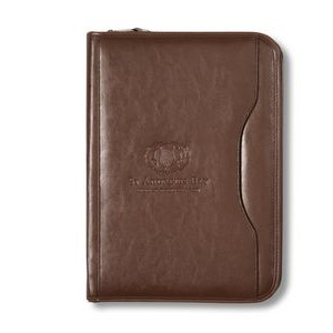 Deluxe Executive Vintage Leather Padfolio Brown