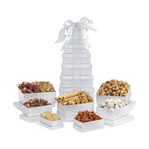Sunsational Deluxe Shimmering Sweets and Snacks Gourmet Tower Grey