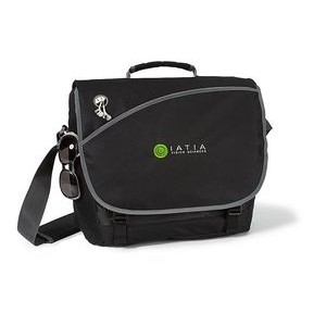 Freestyle Computer Messenger Bag - Black