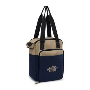 Southport Insulated Picnic Kit - Khaki-Navy Blue