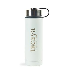 Andes Double Wall Stainless Bottle - 20 Oz. White