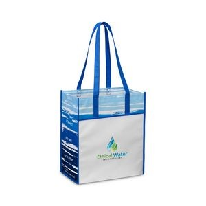 Horizons Laminated Shopper - Royal Blue