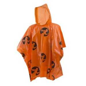 Rain Poncho Lightweight Orange