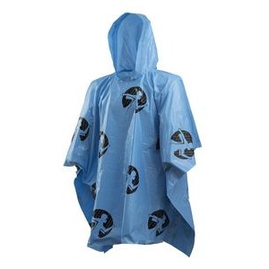 Rain Poncho Lightweight Light Blue