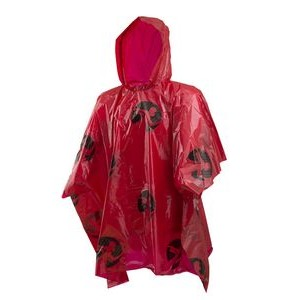 Rain Poncho Lightweight Red