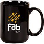 Custom 15 Oz. Pinehurst Ceramic Mug/Black