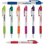 Custom Fusion Silver Pen w/ Colored Gripper & Accents