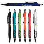 Custom Floki Metallic Stylus Pen w/ Black Gripper