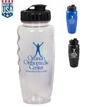 Custom 28 Oz. Polyclear Gripper Bottle