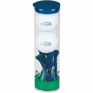 2 Ball Tall Tube with Wilson Chaos Golf Balls