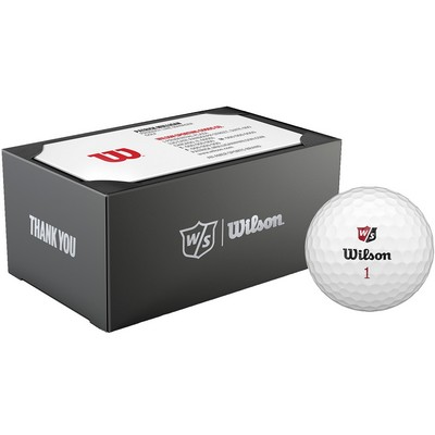 Creative dimensions promotional products apparel wilson staff 2 ball business card box reheart Image collections