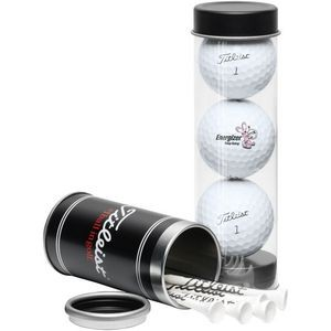 Titleist 3-Ball Tee Tube w/ DT TruSoft™ Golf Balls