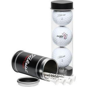 Titleist 3-Ball Tee Tube w/ DT TruSoft Golf Balls