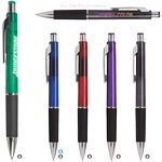 Custom Quasar Translucent Pen w/ Black Gripper
