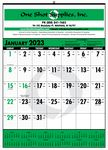 Custom Bid Master Commercial Wall Calendar w/ 3 Color Imprint