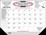 Custom Standard 3 Color Desk Pad Calendar