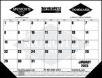Custom Standard 2 Color Desk Pad Calendar