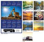 Custom Stock Art Year at a Glance Wall Calendar