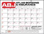 Custom Bid Master Standard Two Hole Punch Desk Pad Calendar w/ Clear Corners