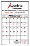 Custom Bid Master Commercial Wall Calendar w/ 3 Color Imprint