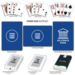 Custom Baronet Royal Blue Poker Size Playing Cards w/Regular Face