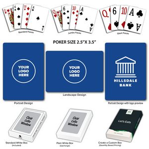 Baronet Royal Poker Size Playing Cards w/Regular Face