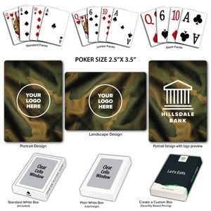 Camo Theme Poker Size Playing Cards