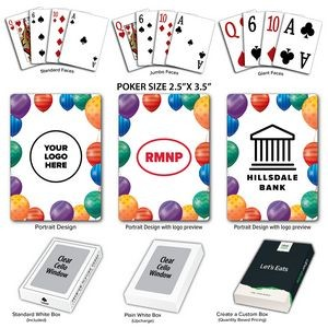 Balloons Theme Poker Size Playing Cards