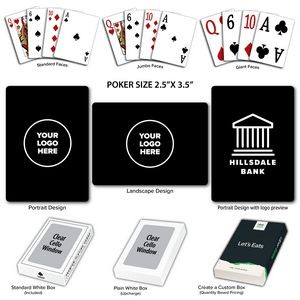 Solid Back Black Poker Size Playing Cards