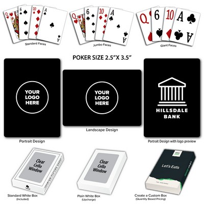 Baronet Black Poker Size Playing Cards w/Regular Face