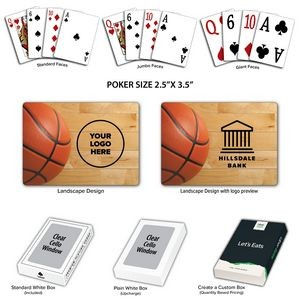 Basketball Theme Poker Size Playing Cards