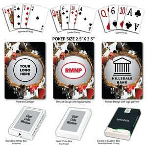 Casino Nights Theme Poker Size Playing Cards