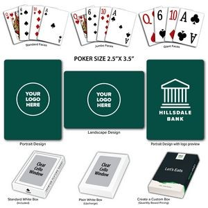 Solid Back Hunter Poker Size Playing Cards
