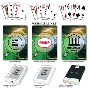 Golf Theme Poker Size Playing Cards