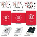 Custom Baronet Red Poker Size Playing Cards w/Regular Face