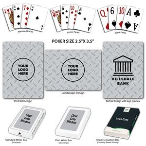 Diamond Plate Poker Size Playing Cards