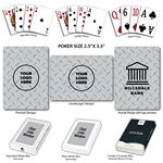 Custom Diamond Plate Poker Size Playing Cards