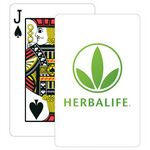 Custom Baronet White Bridge Size Playing Cards w/Regular Face