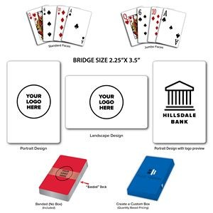 Full Color Custom Casino Quality Bridge Size Playing Cards