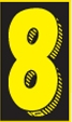Custom Stock Removable Adhesive Auto Numbers (Number 8)