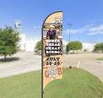 Custom 11' Street Talker Replacement Feather Flag