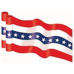 Custom Stock Yankee Doodle Bunting (300'x36