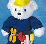 Custom Handyman/Construction Outfit for Stuffed Animal - 2 Piece