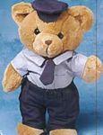 Custom Policeman Accessory for Stuffed Animal - 3 Piece
