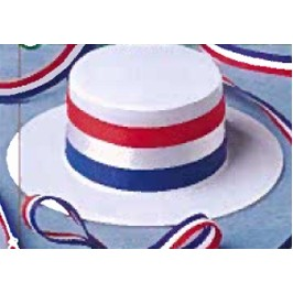Patriotic Skimmer Hat Accessory for Stuffed Animal
