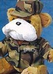 Custom Camouflage Army Uniform Accessory for Stuffed Animal (Medium)