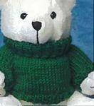 Custom Red Sweater for Stuffed Animal (Large)