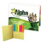 Custom SimpliColor Versa-Pak - 2 Sticky Note Pads and 5 Flag Colors - Full Color Cover